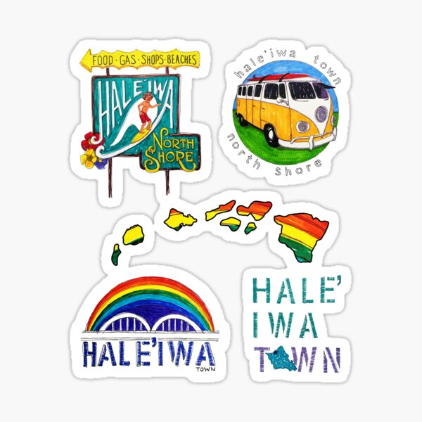 Hale'iwa Sign Drawing - STICKER PACK / MAN Sticker