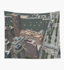 World Trade Center NYC New York City Travel Water Architecture  buildings sky  Wall Tapestry
