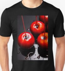 Trio of bright red home made candy apples Unisex T-Shirt