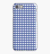 Cornflower Blue Gingham Check Pattern iPhone Case/Skin