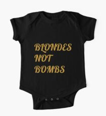 Flight of the Conchords Blondes Not Bombs One Piece - Short Sleeve