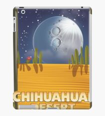 Chihuahuan Desert Cartoon travel poster iPad Case/Skin