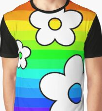 Rainbow Flowers - Feel Good Collection Graphic T-Shirt
