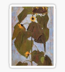 Egon Schiele - Sunflower 1908 Sticker