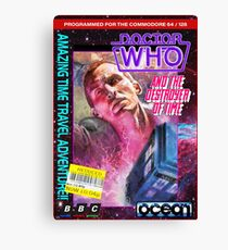 9th Doctor Commodore 64 Video Game Cover! Canvas Print