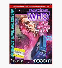 9th Doctor Commodore 64 Video Game Cover! Photographic Print