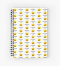 Have an irrational day ! 3.14 pi Spiral Notebook