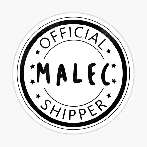 Official Malec Shipper Sticker