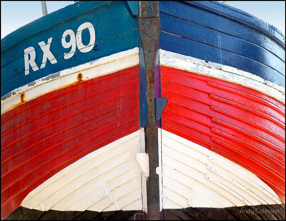 Bow of Hastings Fishing Boat by Andy Coleman