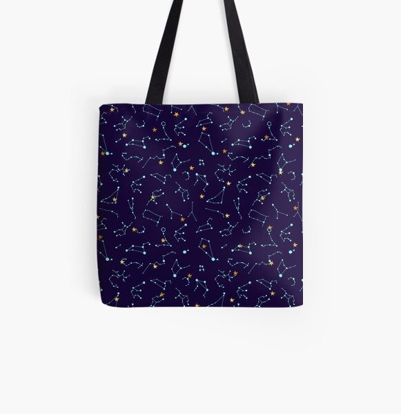 Constellation Night Sky - Astronomy Astrology Stars Solar System All Over Print Tote Bag