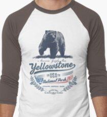 Yellowstone National Park USA - America United States Bear Men's Baseball ¾ T-Shirt
