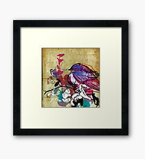 blue bird Framed Print