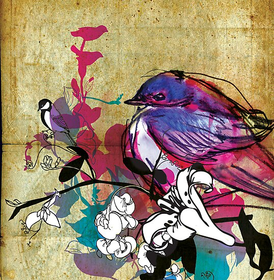 blue bird by Narelle Craven