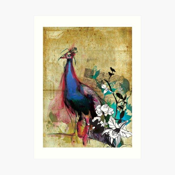 king peacock Art Print