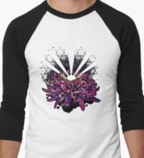 Geometric Chrysanthemum Flower Men's Baseball ¾ T-Shirt