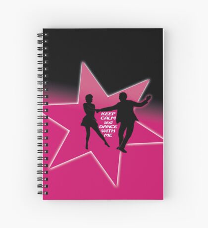 keep calm and dance - west coast swing Spiral Notebook