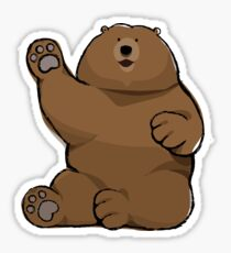 Waving Bear Sticker