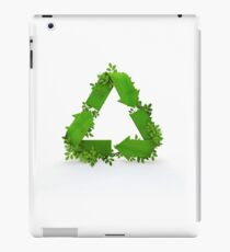 recycling symbol and leaves iPad Case/Skin