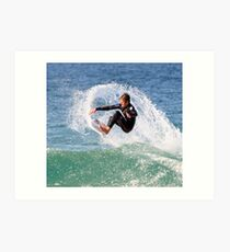 Air Time at 1/2 Mile Beach, Forster Art Print