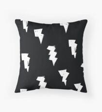 Cojín Lightning Bolt Black and White - Tormenta meteorológica