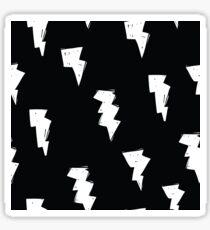 Lightening Bolt Black and White - Weather Storm Sticker