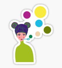 Playful Girl Sticker