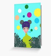 Playful Girl Greeting Card