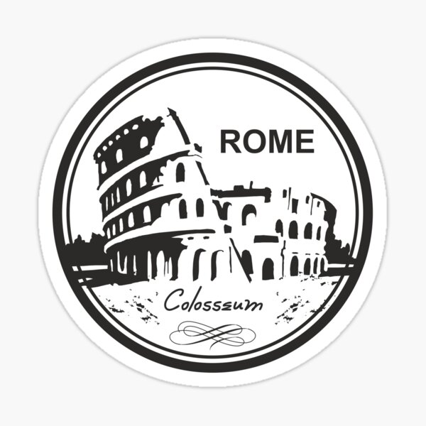 Italy Rome Colosseum Travel Destination Sticker