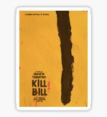Kill Bill, Quentin Tarantino, movie poster, alternative, minimal version Sticker