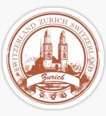 Zurich Switzerland Travel Destination Sticker