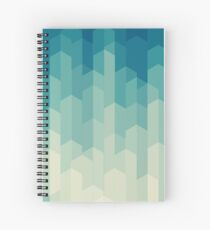 green abstract shapes Spiral Notebook