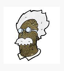 cartoon genius scientist face Photographic Print