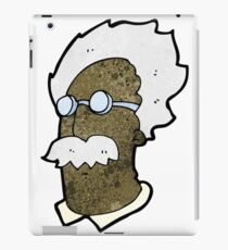 cartoon genius scientist face iPad Case/Skin