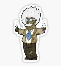 cartoon genius scientist Sticker
