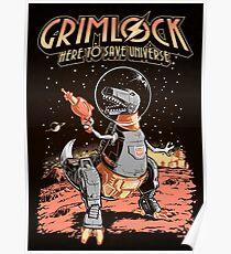 Space Pulp Robot Dinosaur Hero (Print Version) Poster