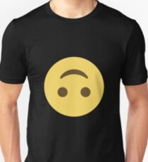 Emoji Upside-down Happy Face Unisex T-Shirt