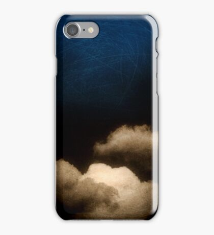 Clouds in a scratched darkness iPhone Case/Skin
