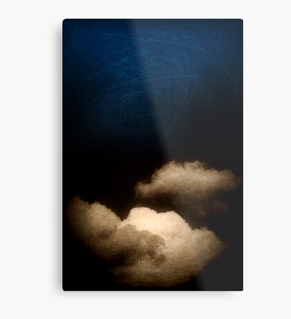 Clouds in a scratched darkness Metal Print