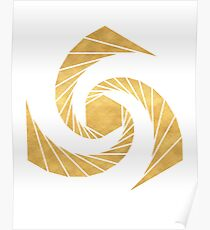 GOLDEN MEAN SACRED GEOMETRIC CIRCLE Poster
