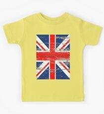 Barnwood United Kingdom Great Britain Union Jack flag Kids Tee