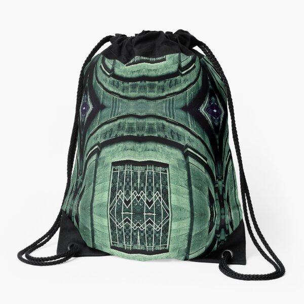 Emerald Emergence  Drawstring Bag