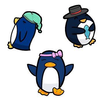 Penguin Trio by alexperez398
