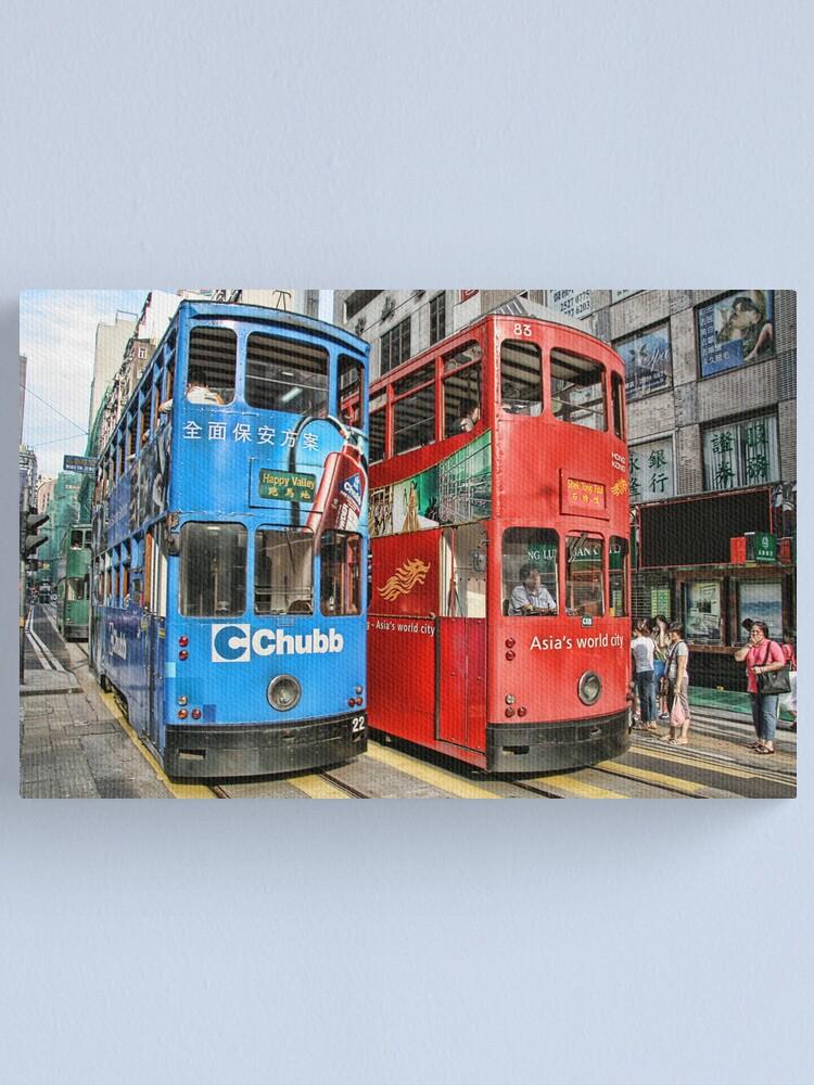 Alternate view of Hong Kong - Trams Canvas Print