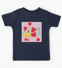"""""""Old Fashion Love"""" - Vintage, Inspired, Valentine's, Day, Card, Love, Romance, Romantic, Couple, Cute, Red, Hearts, Pink, Flowers, Victorian, Sweeites   Kids Tee"""