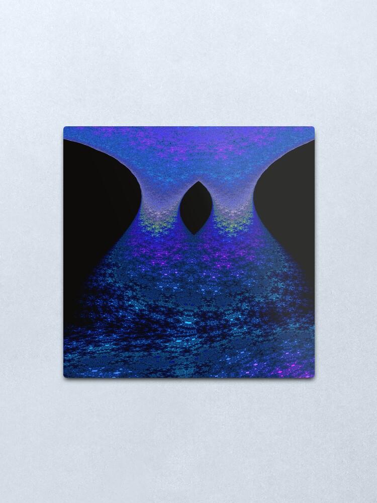 Alternate view of Cascade (Night version) Metal Print