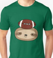Football Sloth Face Unisex T-Shirt