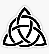 Triquetra Black Version Sticker