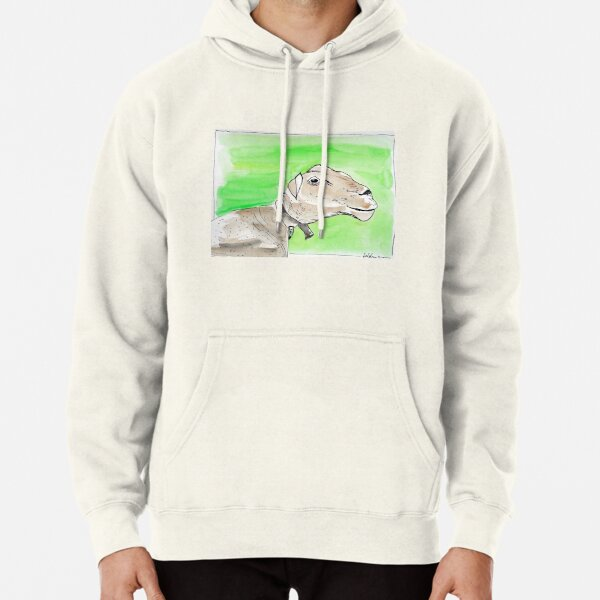 SMILING SHEEP - WATERCOLOUR AND INK Hoodie
