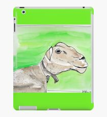 SMILING SHEEP - WATERCOLOUR AND INK iPad Case/Skin