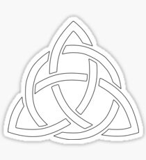 Triquetra White Version Sticker